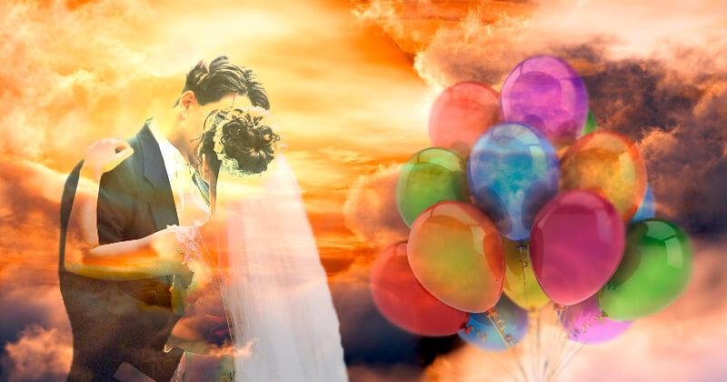 Воздушные шары по сценарию на 10 лет свадьбы