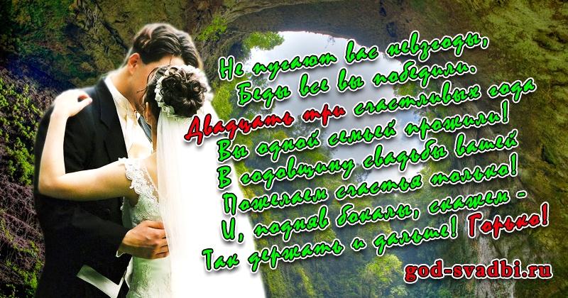 Поздравления с днем свадьбы 23 картинки, открытка новому году